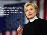Hillary Clinton declara la guerra a la religión