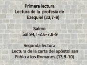 Lecturas de hoy Domingo 23º del Tiempo Ordinario – Ciclo A