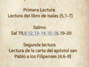 Lecturas de hoy Domingo 27º del Tiempo Ordinario – Ciclo A