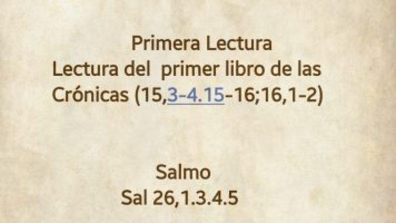 Lecturas de hoy Nuestra Señora del Pilar