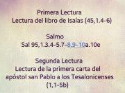 Lecturas de hoy Domingo 29º del Tiempo Ordinario – Ciclo A