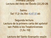 Lecturas de hoy Domingo 30º del Tiempo Ordinario – Ciclo A
