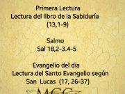 Lecturas de hoy Viernes de la 32ª semana del Tiempo Ordinario