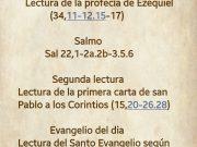 Lecturas de hoy Domingo 34º del Tiempo Ordinario – Ciclo A