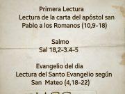 Lecturas de hoy Fiesta de San Andrés apostol