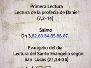 Lecturas de hoy Sábado de la 34ª semana del Tiempo Ordinario