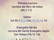 Lecturas de hoy Martes de la 2ª semana de Adviento