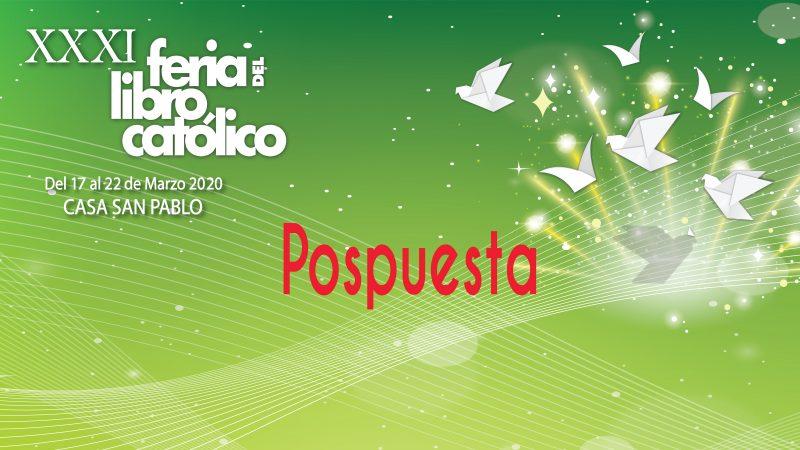 Pospuesta- XXXI Feria del Libro Católico 2020